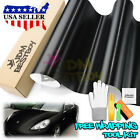 Gloss Glossy Black Car Vinyl Wrap Sticker Decal Air Release Bubble Free Film