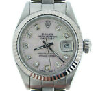 Rolex Datejust Ladies Stainless Steel/18k White Gold Watch White MOP Diamond