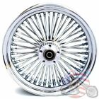 Chrome 16 x 3.5 48 Fat King Spoke Rear Wheel Rim Harley Touring Dyna Softail
