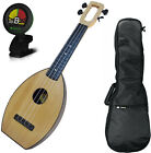 Magic Fluke Soprano Natural Flea M30 Ukulele Bundle w Gig Bag and Tuner