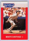 1988  BENITO SANTIAGO - Kenner Starting Lineup Card - SAN DIEGO PADRES