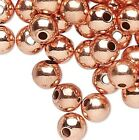 100 OR 1000 Solid Copper 4mm Round Smooth Spacer Beads