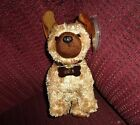 T Y BEANIES PLUSH ODIE PUPPY SPOTTED BROWN  DARK BROWN EARS & NOSE WEARING TAG S