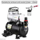 Airbrush Compressor Kit withTank Dual Action Spray Air Brush Set Tattoo Nail Art