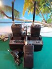 LOT OF 3 RADIO SHACK RADIOS BTX-121 ETC W/CHARING STATION ICE NC-580 FOR PARTS
