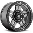 15x10 Gray Fuel Anza D558 Wheels 5x55 43 Lifted CHEVROLET TRACKER