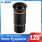 SVBONY 125 Ultra Wide Angle Eyepiece Lens 6mm 66Multi coated For Telescope US