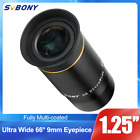 125 Ultra Wide Angle Eyepiece Lens 9MM 66 Fully Multi coated for Telescope US