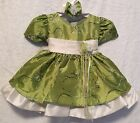 NEW BOUTIQUE GREEN PAGEANT OR FLOWER GIRL DRESS 6M 2T