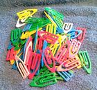 100 15 inch Plastic Paper Clips Multi Color Assorted B17