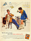 1960 vintage soft drink AD for 7-UP  School Band Members and Goat soda 031415