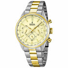 Festina Mens Chronograph Bicolor Golden Dial Elegant Watch F16821/2