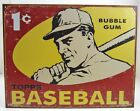 Vintage Replica Tin Metal Sign Topps picture cards box gum 1959 baseball 1404