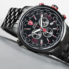DETOMASO Aurino Mens Watch Chronograph Stainless Steel Sapphire Coated Glass New