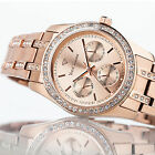 YVES CAMANI MIELLE Womens Watch Stainless Steel Rosegold Multifunction New