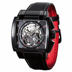 DETOMASO Metauro Mens Automatic Watch Skeleton Stainless Steel Black New