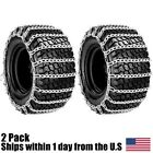 New Pair 2 Link Tire Chains 20x8x8 for Sears Craftsman Lawn Mower Tractor Ride