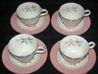 MID-CENTURY HOMER LAUGHLIN BARCLAY CUPS AND SAUCERS - CAVALIER EGGSHELL - 4 SETS