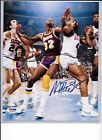 MAGIC JOHNSON AUTO AUTOGRAPH 8 X 10 PHOTO PSA DNA CERT STICKER ONLY LAKERS