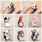 Fashion New Lovely Cartoon Resin Animal Finger Rings Animal Design Jewelry HU