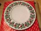Vintage 1989 Fitz and Floyd Ceramic Old World Christmas Holly Service Plate Tray