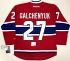 ALEX GALCHENYUK SIGNED MONTREAL CANADIENS REEBOK JERSEY PSA DNA COA Y58588