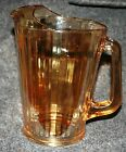 Vintage Collectible Jeannette Glass Iridescent Marigold Carnival 64 oz Pitcher !