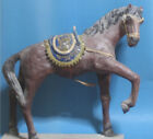 19th Antique Italian Neapolitan Large Horse Creche Doll Glass Eyes 21 3 2