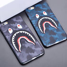 Shark Camo Camouflage Bape Back Hard Case Cover For iPhone SE 5 5s 6s 6 7 7 Plus