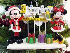 DISNEY Santa MICKEY and MINNIE with DISNEYLAND Marquee CHRISTMAS Ornament
