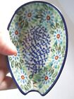 NEW C.A. POLISH POTTERY SPOON REST-Pretty floral.