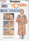 Craft Coat Daisy Kingdom Embellished Simplicity Sewing Pattern 7718 Uncut S-M-L