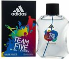 TEAM FIVE Adidas men cologne edt 3.4 oz 3.3 NEW IN BOX