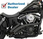 Bassani Black Radial Sweepers Exhaust Pipes w Heat Shields Harley Softail Dyna