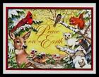 257-GC Tracy Flickinger CHIPMUNK DEER SQUIRREL Unused Christmas Greeting Card