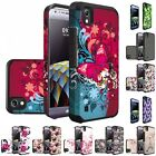 For LG Tribute HD LS676 X Style Hybrid Grip Slim Armor Soft Hard Case Cover