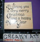 WISHING YOU A VERY MERRY CHRISTMAS NEW YEAR RUBBER STAMP STAMPABILITIES I1042