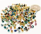 100 VINTAGE SWAROVSKI ARTICLE 1100 ROUND 28PP ASSORTED 35mm RHINESTONES S860