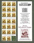 BJ Stamps 2949a 32 Love  Cherub Pane Plate B2222 1 Mint pane of 20 1995