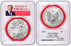 2017 1oz Silver Eagle PCGS MS69 First Day Issue Red Gasket Donald Trump