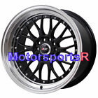 XXR 521 Black Machine Lip 18 Rims Wheels Staggered Fits 98 Nissan 240sx 96 300zx