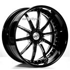 4pcs 20 Staggered AC Forged Wheels Rims AC320 Black 3 piece