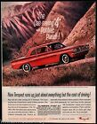 1962 OLDSMOBILE Tempest Red Coupe Vintage Car Photo AD