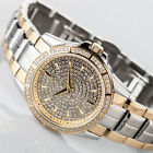 YVES CAMANI GALAURE Womens Watch Two Tone Stainless Steel Gold Plated Silver New