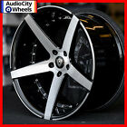 20 MQ 3226 WHEELS BLACK MACHINED FACE STAGGERED RIMS 5x1143 FIT LEXUS IS300