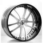 4pcs 22 Staggered AC Forged Wheels Rims 312 ST Black 3 piece