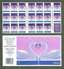 BJ Stamps 3123a 32 Love Swans Heart Plate 6666 Mint pane of 20 1996