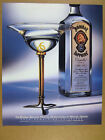 1992 martini glass by Michael Graves photo Bombay Sapphire Gin print Ad