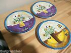 Sue Zipkin Floral Applique Salad Plate by Sakura Tabletrendz Retired Set of 3
