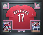 Lance Berkman Autographed and Framed Red Astros Jersey Auto Tristar COA D1-L